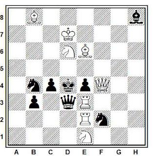 Problema de mate en 2 compuesto por Francisco Novejarque (El Ajedrez Español, 1935)
