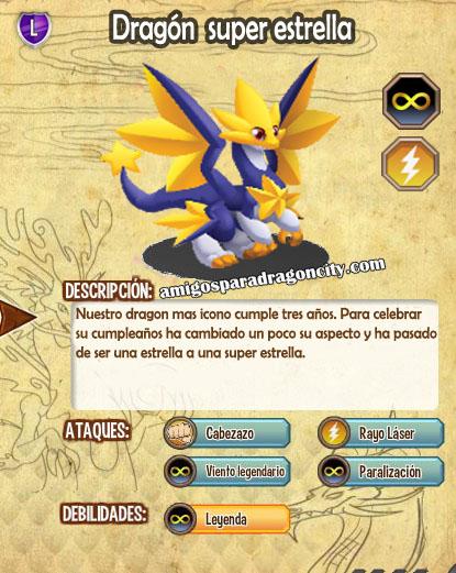 imagen de las caracteristicas del dragon super estrella