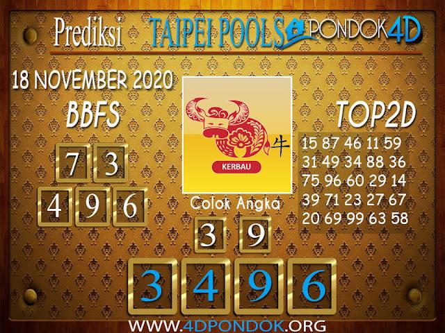 Prediksi Togel TAIPEI PONDOK4D 18 NOVEMBER 2020