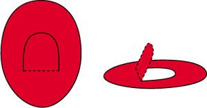 Molde simple para hacer sombrero de bombero en cartulina