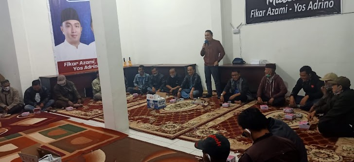Berbondong Bondong Datangi Posko, Forum Tiga Ojek Nyatakan Dukung Fikar - Yos