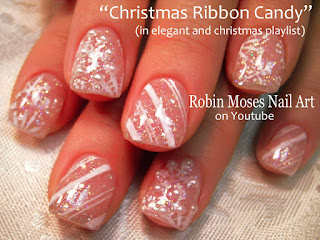 Nail Art By Robin Moses Snowflake Nails Red Nail Art Christmas
