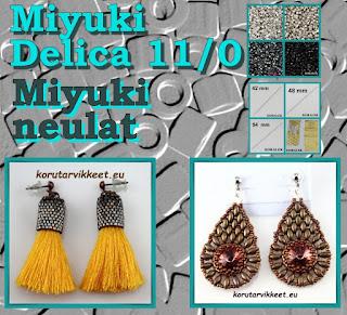 Miyuki Delica 11/0, Miyuki neulat - korujen tekeminen itse - helmikauppa netissä