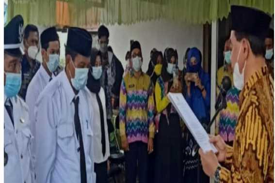 Pjs Kepala Desa di Kecamatan Satui Dilantik Bupati Tanbu