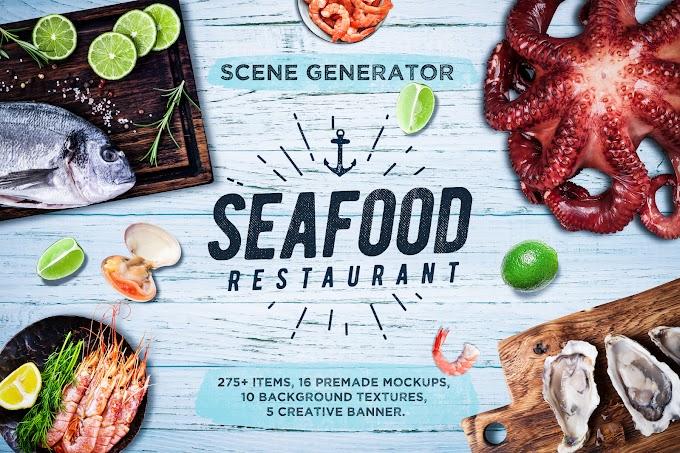 Seafood Scene and Mockup Creator