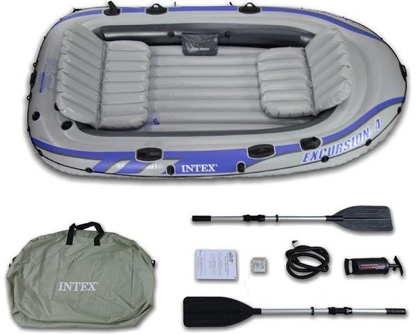 Надуваема лодка Intex Excursion, за 4 човека