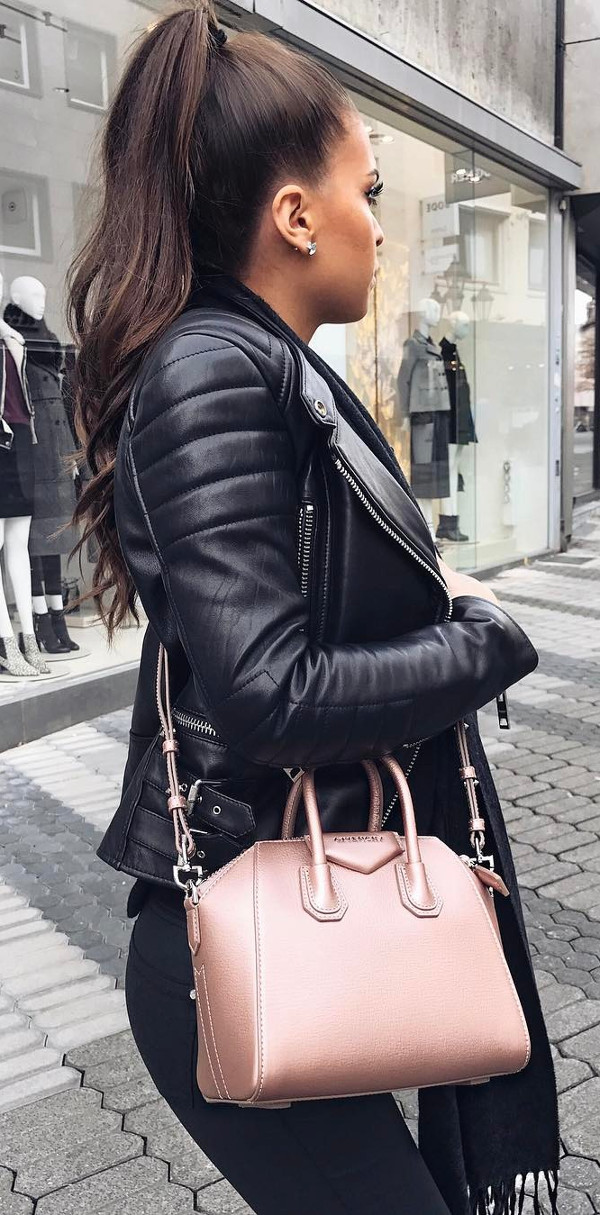 all black everything with nude details