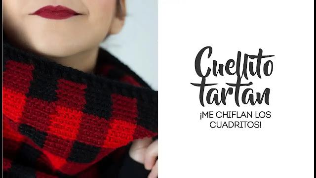 663. Como Tejer Cuello Tartán a Crochet