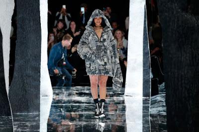 Rihanna at her February Fenty Puma runway show. Photo: JP Yim/Getty Images