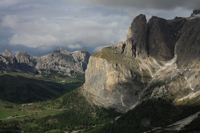 West edge of the Sella Group as seen from Passo Sella.