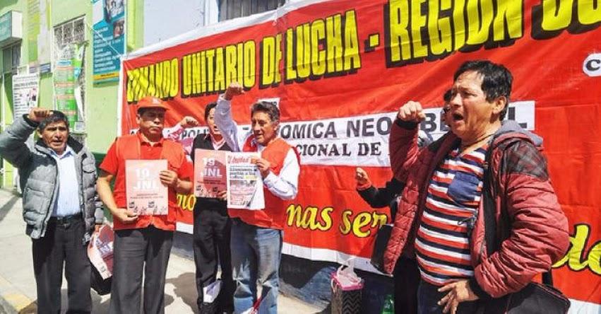 CGTP convoca a movilización para el 19 de Julio en Huancayo - Junín
