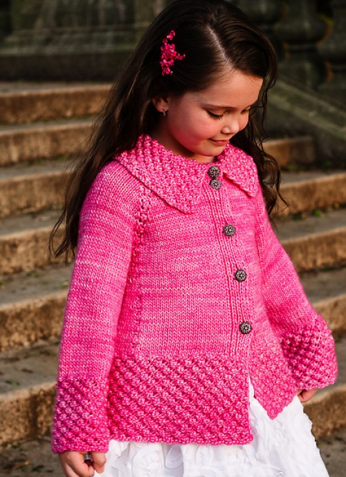 Roseberry Cardi - Knitting Pattern