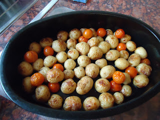 Roasted New Potatoes and Cherry Tomatoes