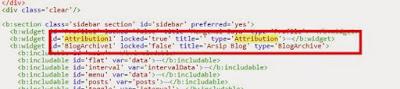 Cara Menghilangkan Widget Atribusi Pada Blog