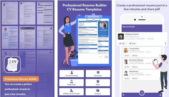 Aplikasi Membuat CV Lamaran Kerja Gratis Terbaik di Android-3