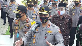 Wakapolri Komjen Pol Dr. Gatot Eddy Pramono, Datang Kampanyekan Penggunaan Masker Pada Warga Jateng