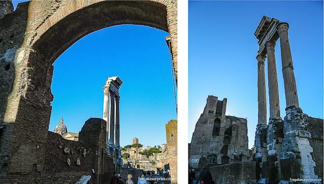 Fórum Romano: Templo de Castor e Pólux