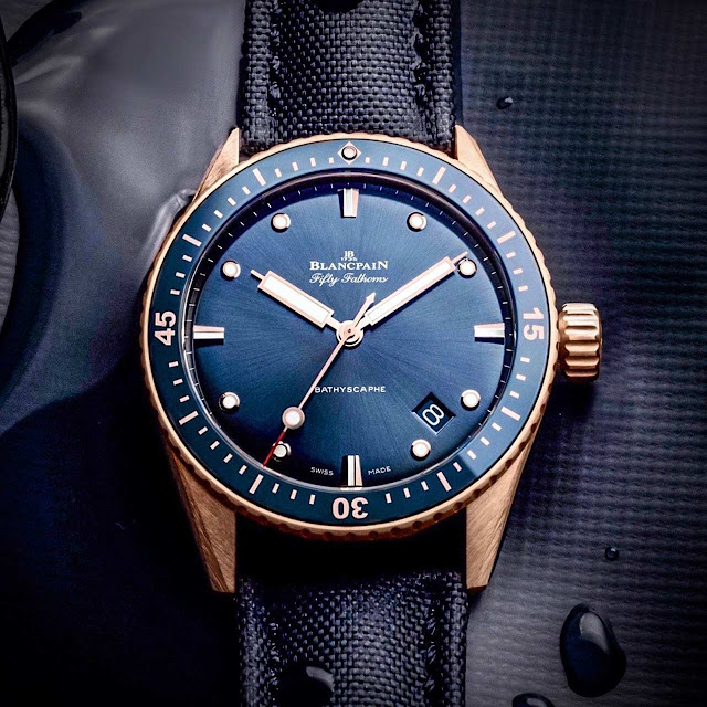 Blancpain Fifty Fathoms Bathyscaphe in Sedna gold ref. 5000-36S40-O52A