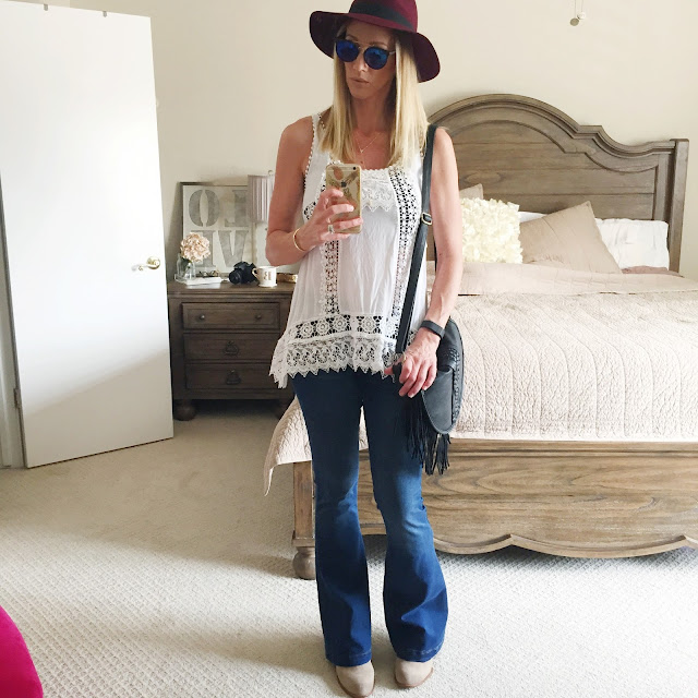 simple ways to wear flare jeans