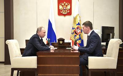 Vladimir Putin and Maxim Reshetnikov in Kremlin.