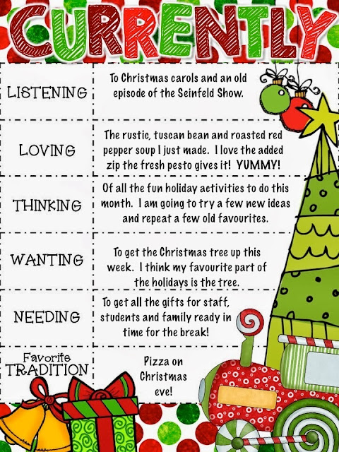 Photo of December Currently from Teachingisagift.blogspot.ca