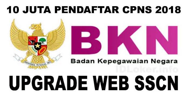 Pendaftar CPNS 2018 10 Juta Lebih, BKN Tingkatkan Kapasitas Web SSCN