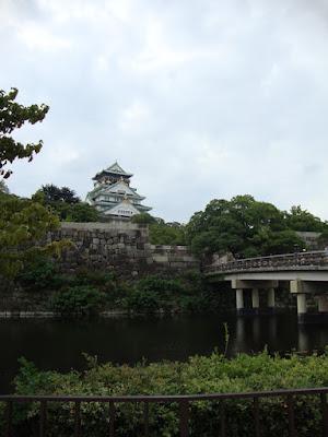 veduta del castello di Osaka dal fossato