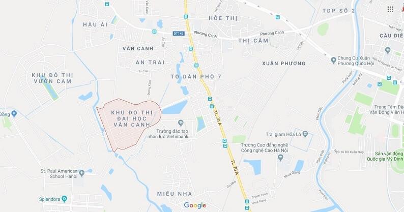 Quy hoạch khu đô thị Đại học Vân Canh An Lạc - THÔNG TIN