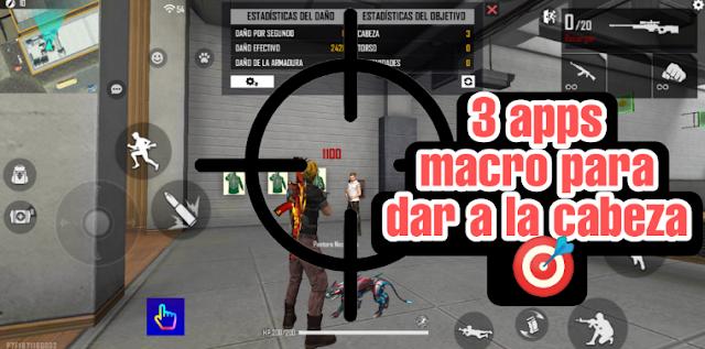 LAS 3 MEJORES apps MACRO para FREE FIRE, puntería PERFECTA🎯