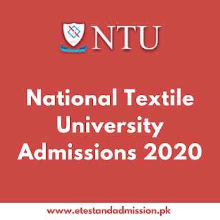 national textile university admissions 2020