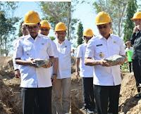 Masjid Pemkot Bima Senilai Rp4,9 Milyar Mulai Dibangun, Walikota Letakkan Batu Pertama