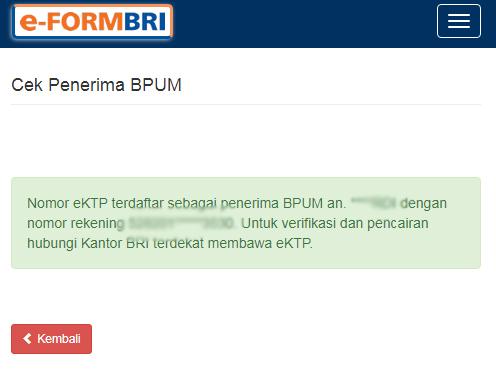 Cara Mengisi Formulir Penerima Bansos UMKM di eform.bri.co.id/bpum