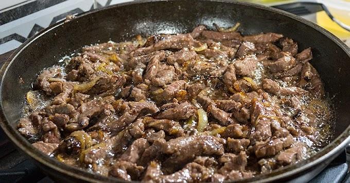 Carne de res molida estilo stroganoff