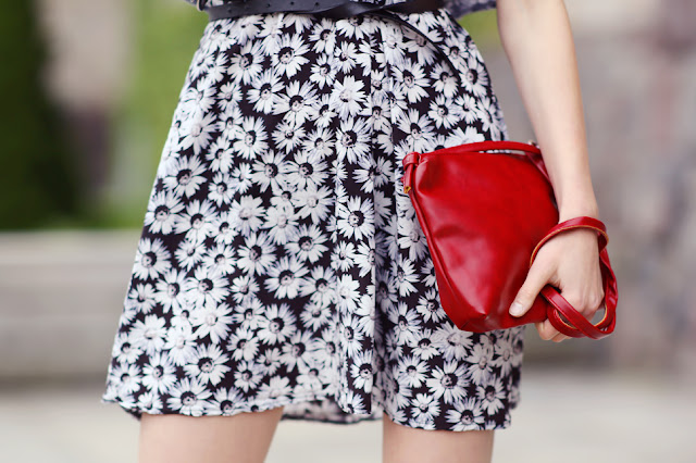 red small clutch bag