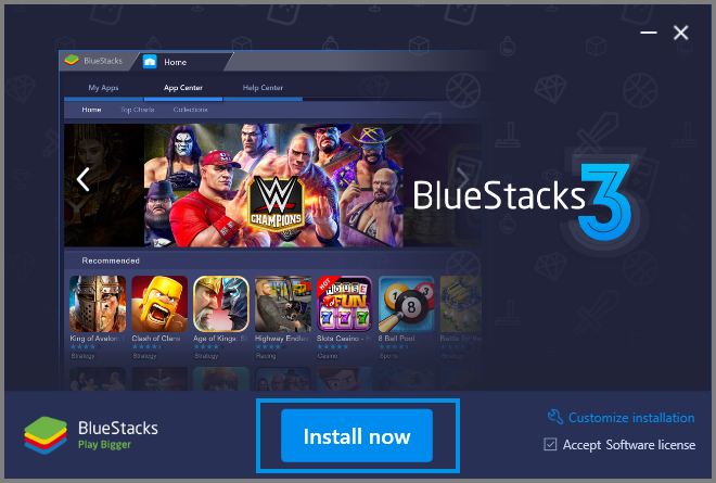 Install BlueStacks on your PC