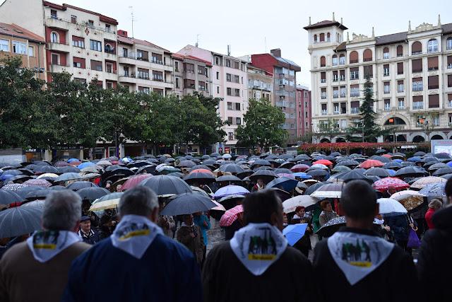 Protesta de pensionistas en Herriko Plaza