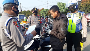 Operasi Yustisi 3 Pilar, PLH Kapolsek Dayeuhkolot Polresta Bandung Imbauan Prokes