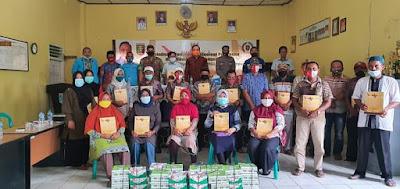 Garinca Reza Sosialisasikan Pembinaan Ideologi Pancasila dan Wawasan Kebangsaan di Balai Desa Pasar Sukadana