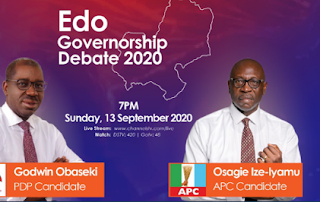Obaseki, Ize-Iyamu debate 7 pm today as Edo election draws near
