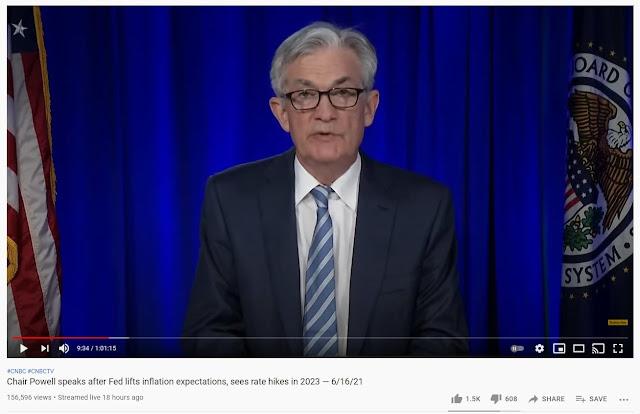 Jerome Powell, Pengerusi US Federal Reserve telah membuat satu sidang media selepas mempengerusikan mesyuarat FOMC