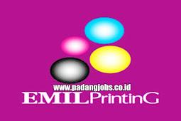 Lowongan Kerja Padang: CV. Emil Printing Agustus 2018