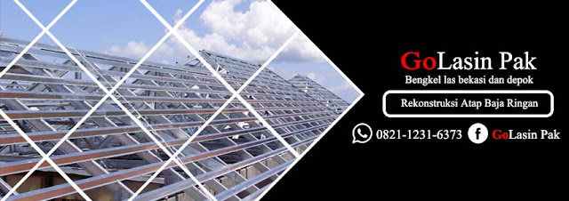 rekonstruksi rumah dengan rangka atap baja ringan