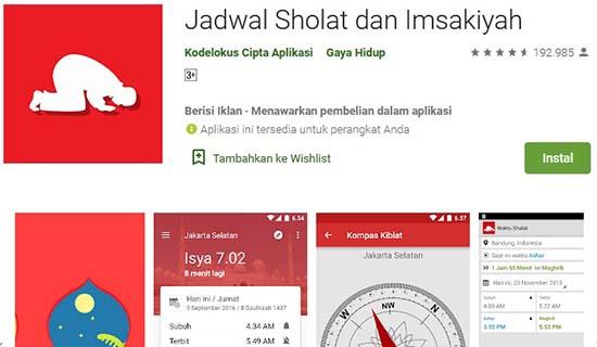 jadwal sholat aplikasi