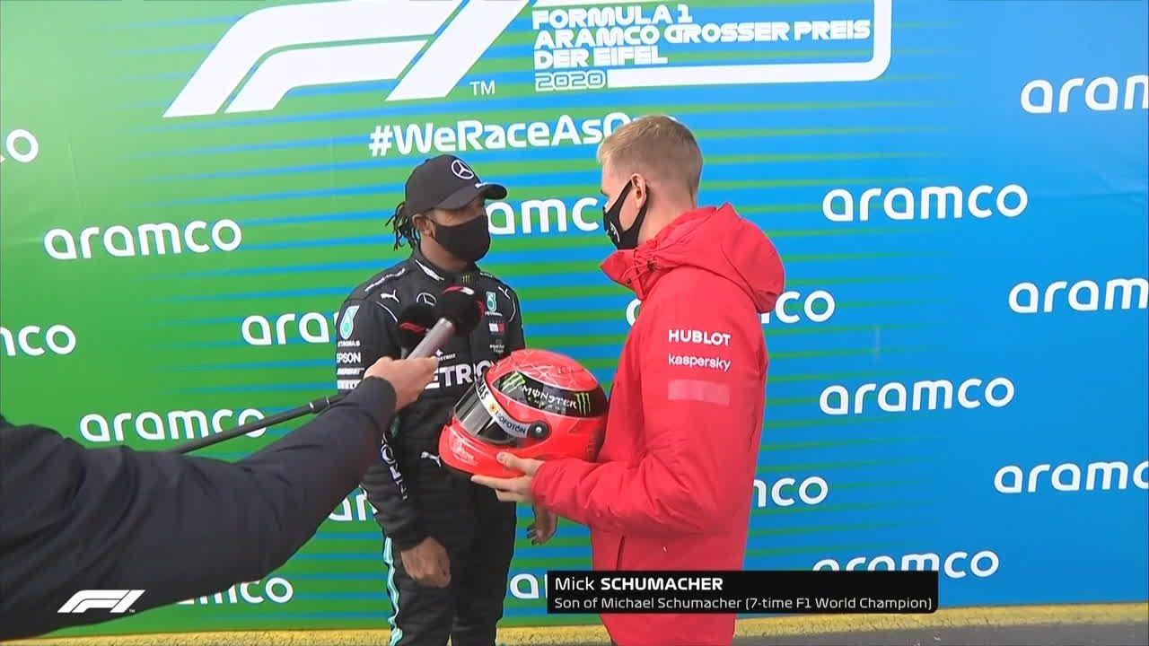 Mick Schumacher y Lewis Hamilton