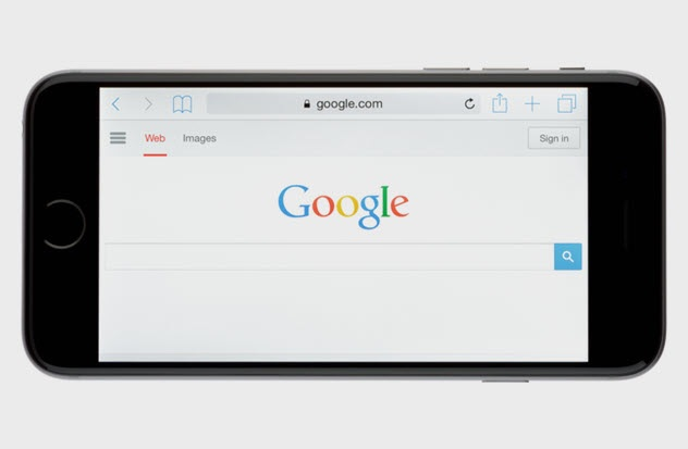 telefon inteligjent i hapur tek google