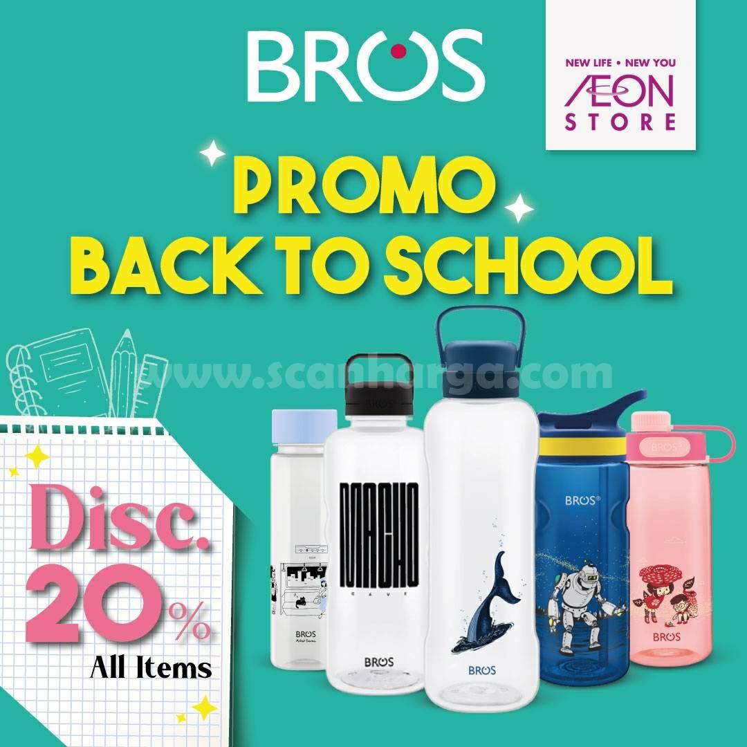 AEON Store Promo Back To School - Diskon 20% Tumbler Bros All Item