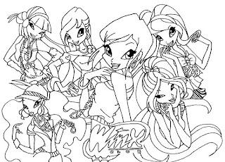 Winx οι Γουίνξ σε εκτυπώσιμες ζωγραφιές