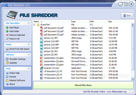 Menghapus File Secara Permanen Dengan File Shredder