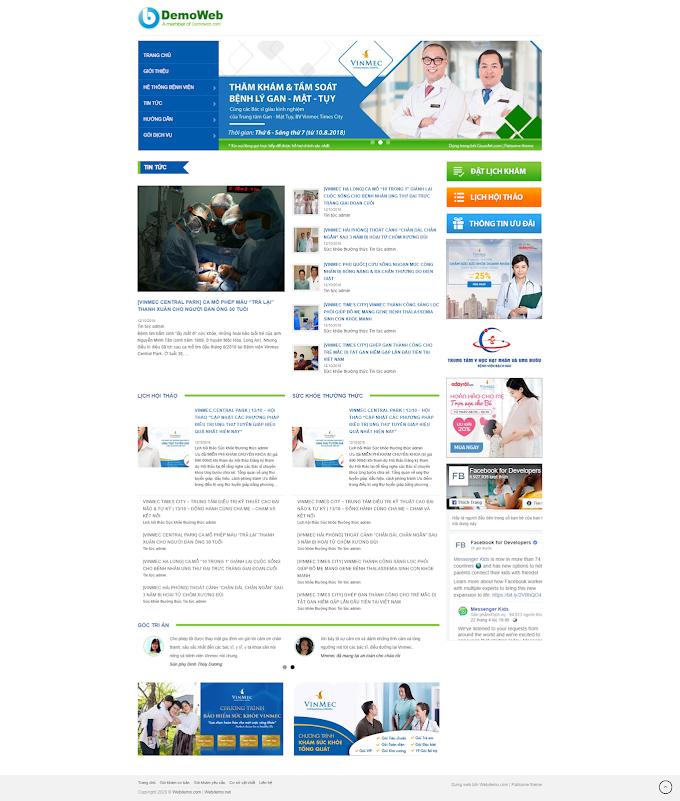 Mẫu website trung tâm y tế