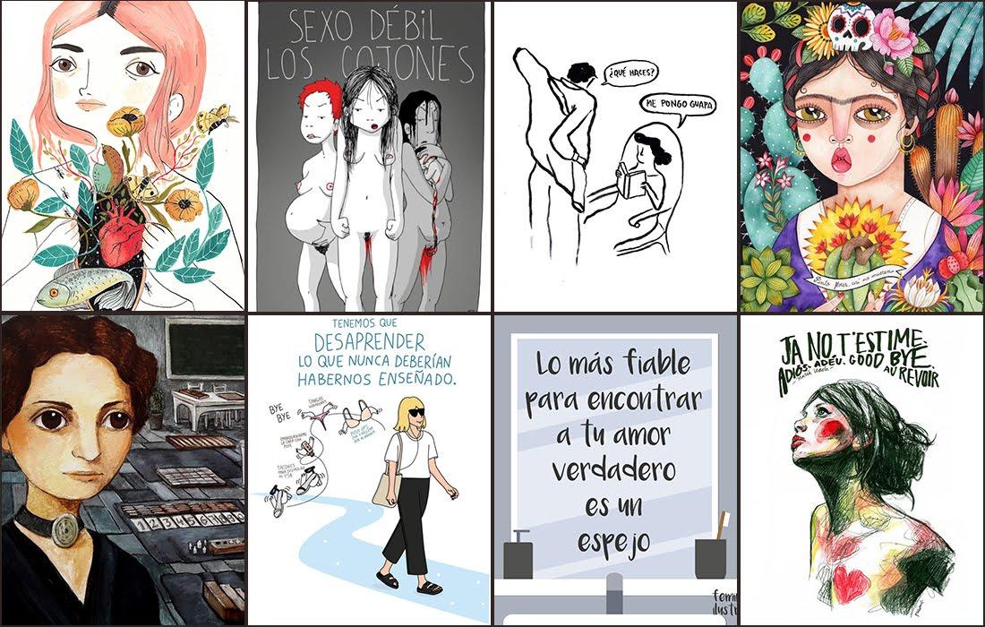 Punto de lu, ilustradoras feministas